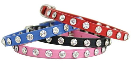 Pink Minnie Maddie Collars w/ Swarovski Crystals