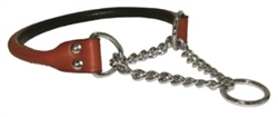 Rolled Leather Martingale Collars