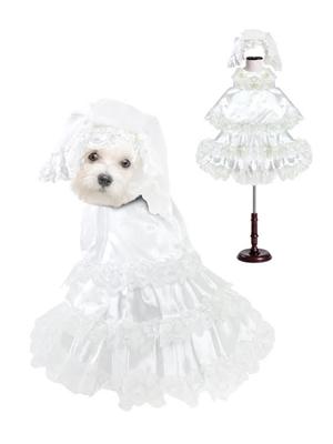 Wedding Dog Costume with Veil