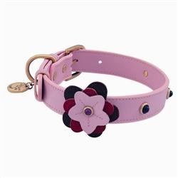 Happy Camper Collar & Leash - Light Pink Flower
