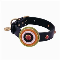 Happy Camper Collar & Leash - Brown Circle