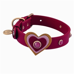Happy Camper Collar & Leash - Red Heart