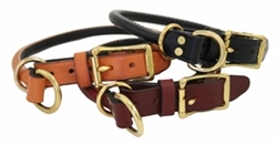 Rolled Leather Combination / Choke Collars