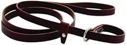 Kennel Slip Leashes - Burgundy or Black Leather