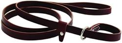 Kennel Slip Leashes - Burgundy or Black Leather