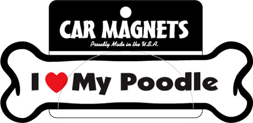 I (Heart) My (Breed) Bone Magnets