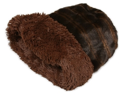 Chocolate Sable with Chocolate Shag Double Wide Cuddle Cup
