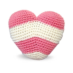 PAWer Squeaky Toy - Stripy Heart