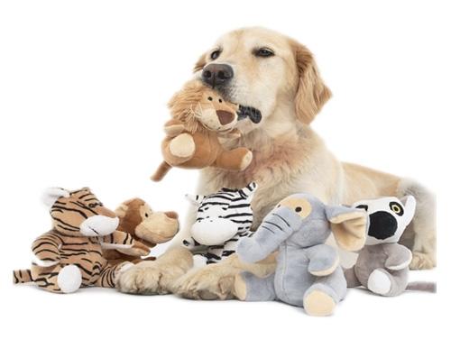 Plush Safari Animals 6 pack - Assorted