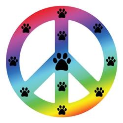 Peace Sign Magnets - Rainbow