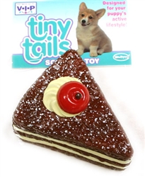 VINYL CHOCOLATE CAKE W/CHERRY