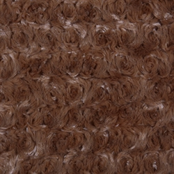 Chocolate Curly Sue Blanket 28x28""