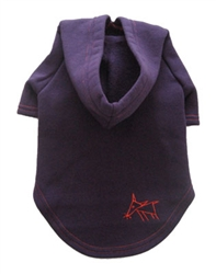 Sniffing Dog Hoodies - Deep Purple/Red Stitching
