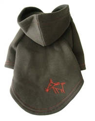 Sniffing Dog Hoodies - Army Green/Orange Stitching