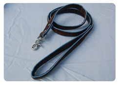 Chocolate on Air Blue Lead w/nickel snap swivel clip