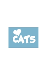 Car Window Decals - (Heart) Cats