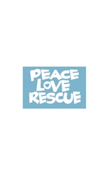 Car Window Decals - Peace Love Rescue