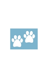 Car Window Decals - Two Paws