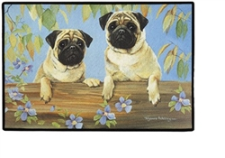 Two Pugs Doormat