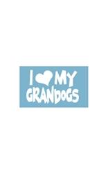 Car Window Decals - I (Heart) My Grandogs