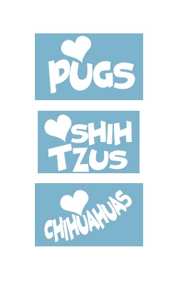 Car Window Decals - Breed Specific