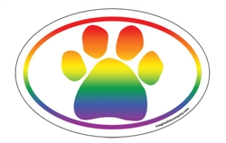 Rainbow Paw Oval #1