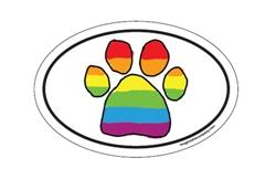Rainbow Paw Oval #2