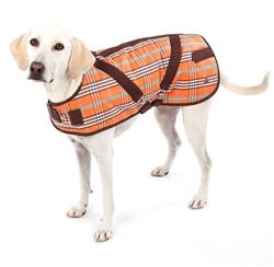 Coat | Signature Orange Plaid Horse Blanket Coat