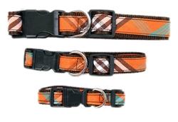 Signature Orange Plaid Collars