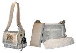 Pony Express Faux Suede & Sheep Skin Carrier