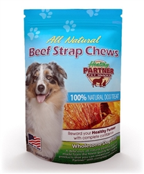 Beef Strap Chew 3 oz Bag - All Natural