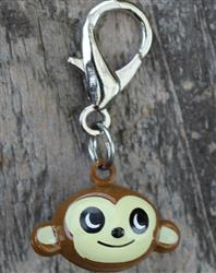 Jingle Monkey Dog Collar Charm