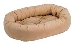 Donut Bed Camel Microvelvet