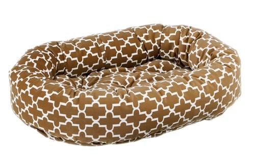 Donut Bed Cedar Lattice Microvelvet