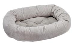 Donut Bed Silver Treats Microvelvet