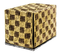 Luxury Crate Cover Dog Days Microvelvet