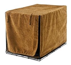 Luxury Crate Cover Pecan Filigree Microvelvet