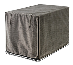 Luxury Crate Cover Pewter Bones Microvelvet