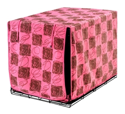Luxury Crate Cover Tickled Pink Microvelvet