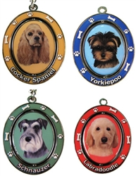 Spinning Dog Key Chains
