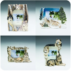"Large Wolf Picture Frames (3.5""- 4"" to 5""- 6"")"