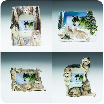 """Large Wolf Picture Frames (3.5""""- 4"""" to 5""""- 6"""")"""