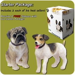 Small Dog Statues Starter Package