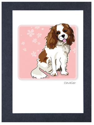 Cavalier Sitting  - Grrreen Boxed Note Cards