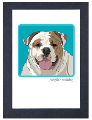 E. Bulldog Smile - Grrreen Boxed Note Cards