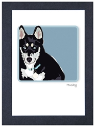 Husky Face - Grrreen Boxed Note Cards