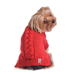 Cool Cable Sweater - Red