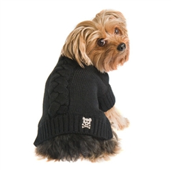 Cool Cable Sweater - Black