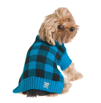 Mad for Plaid Sweater - Turquoise