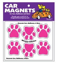 Mini Paw Magnets - Pink (6 paws per set)